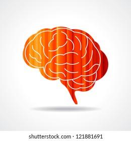 Creative Human brain vector