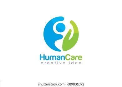 Creative Human Concept Logo Design Template