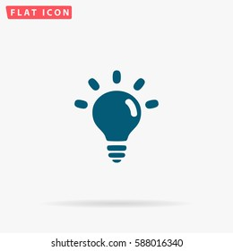 Creative Icon Vector. Flat simple Blue pictogram on white background. Illustration symbol with shadow.