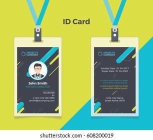 Creative ID Card Black Blue Color