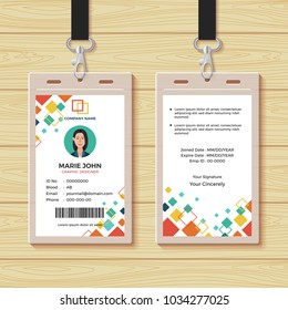 Creative ID Card Design Template