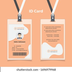Creative ID Card Layout with Modern Shape Elements