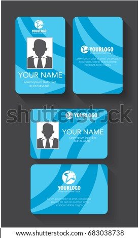 Creative Id Card Template Abstract Blue Stock Vector Royalty Free
