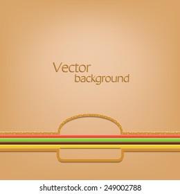 creative idea concept template. line as a burger. vector background