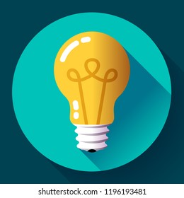 Creative idea in light bulb shape as inspiration concept. Vector design element. Flat icon.