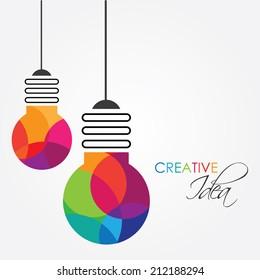 creative idea lightbulb concept vector illustration