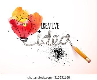 Creative idea loaded, vector concept for inspiration