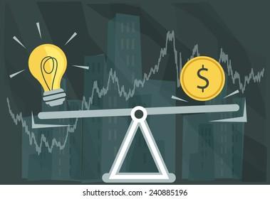 Creative Idea Valuation - Illustration