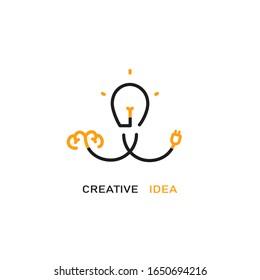 Creative idea vector logo design.