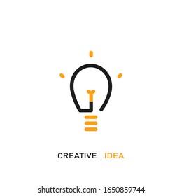 Creative idea vector logo design. Vector line icon.