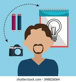 Creative ideas graphic designer, vector illustration eps10
