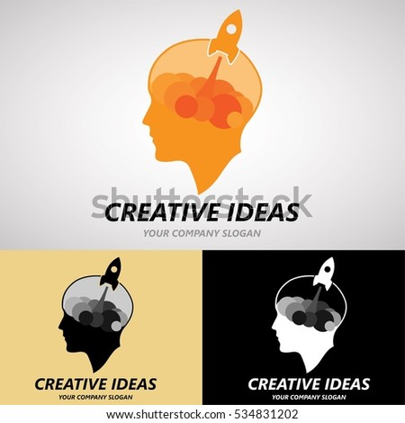 Creative Ideas Logo Design New Generation Stock Vector (Royalty Free ...
