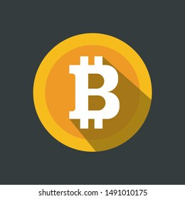 Creative illustration of 3d golden bitcoin coin isolated on background. Art design digital currency, cryptocurrency. Stock market electronic money. Blockchain, ico, fintech net banking element