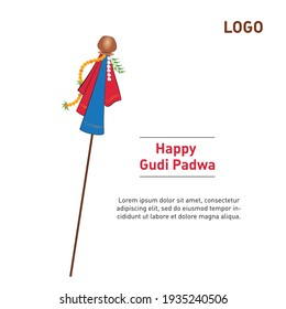 Creative illustration Banner Or Poster of Occasion Gudi Padwa Celebration (Lunar New Year) Background.