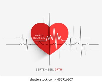 Creative illustration concept of world heart day,banner or poster.