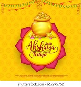Creative Illustration For Festival Of Akshaya Tritiya Celebration Background.