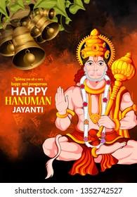 Creative illustration of Hanuman Jayanti, celebrates the birth of Lord Sri Hanuman