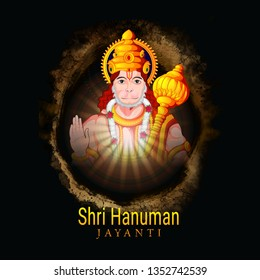Creative illustration of Hanuman Jayanti, celebrates the birth of Lord Sri Hanuman