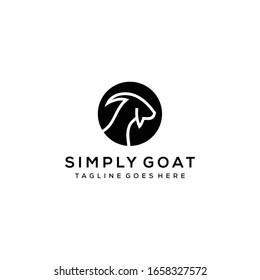 Creative illustration head goat logo icon design vector