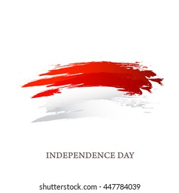 Creative illustration for independence day of indonesia.