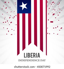 Creative illustration for independence day of liberia.
