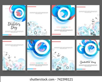Creative illustration, poster or banner of world diabetes day awareness.