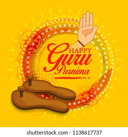 Creative illustration or poster for the Day of honoring celebration guru purnima.