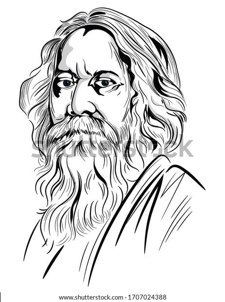 Creative illustration of Rabindranath Tagore Jayanti holiday celebration
