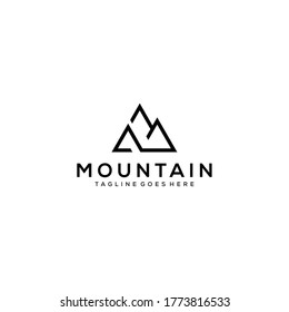 Creative Illustration Simple Mountain Logo Design Vector