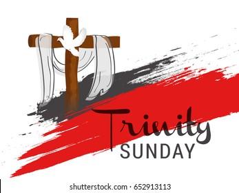 Creative Illustration Of Trinity Sunday.
