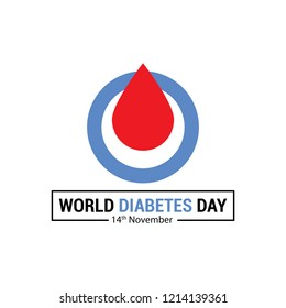 Creative illustration for world diabetes day awareness concept. Can be used as poster, banner, header, background, icon and brochure.