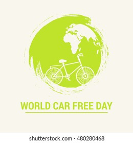 Creative illustration,banner or poster of car free day.