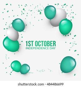 Creative illustration,banner or poster of nigeria independence day celebration.