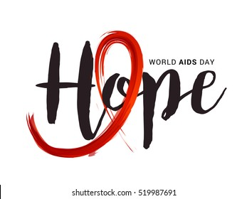 Creative illustration,banner or poster of world aids day.