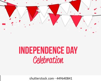 Creative illustration,poster or banner for independence day celebration of indonesia.