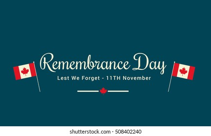Creative illustration,poster or banner of remembrance day of Canada with poppy flowers background.