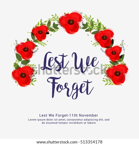 Creative illustrationposter banner remembrance day canada stock creative illustrationposter or banner of remembrance day of canada with poppy flowers background mightylinksfo