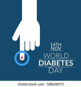 Creative illustration,poster or banner of world diabetes day awareness.