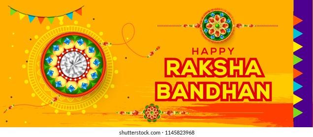 Creative illustration,sale banner or poster for indian festival of raksha bandhan celebration.