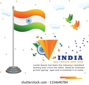 Creative Indian Flag Background Design