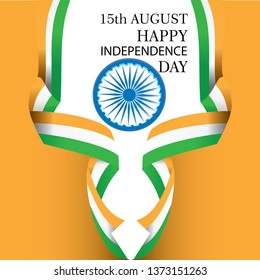 Creative Indian National Flag background , Elegant Poster, Banner or design for 15th August, Happy Independence Day celebration. - Vector