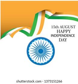 Creative Indian National Flag background , Elegant Poster, Banner or design for 15th August, Happy Independence Day celebration. - Vector