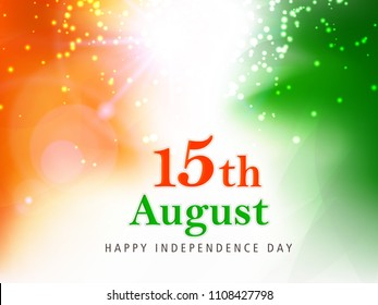 Creative Indian Tri Color Shiny Abstract Background for India Independence Day.
