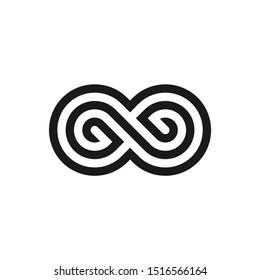 Creative infinity initial GG logo design vector template