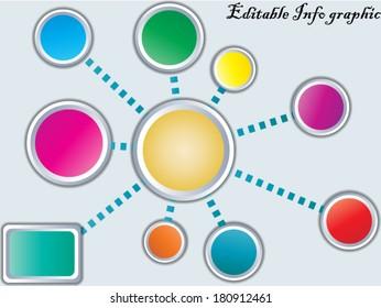Creative info graphic vector/Info graphic circles/Vector design