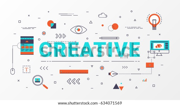 creative info graphics design concept creative idea concept thin line art style design for
