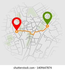 Creative infographic city map navigation for your dashboard concept design. Top and day time view. Vector illustration.