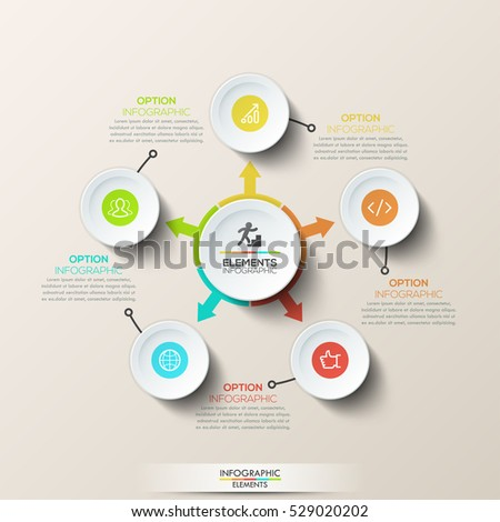 creative infographic design template circular diagram stock vector