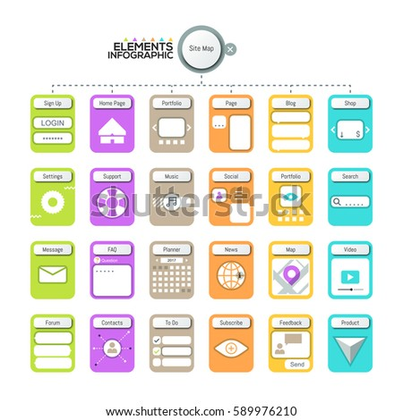creative infographic design template elements pictograms stock