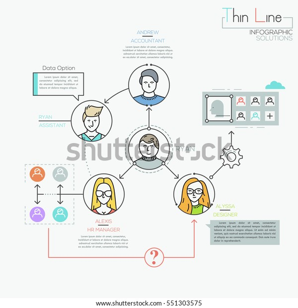 Creative Infographic Design Template Human Characters Stock